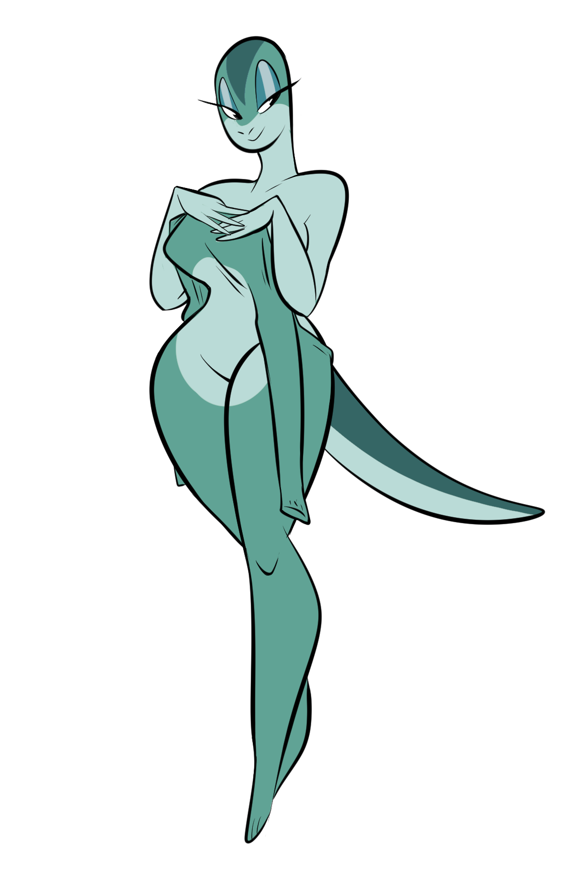 Spookys house of jumpscare e621 - E621 Anthro Breasts Cross_country_cartoons Eyelashes Female Herny Lizard Reptile Scalie Simple_background Smile Solo Tex_avery White_background