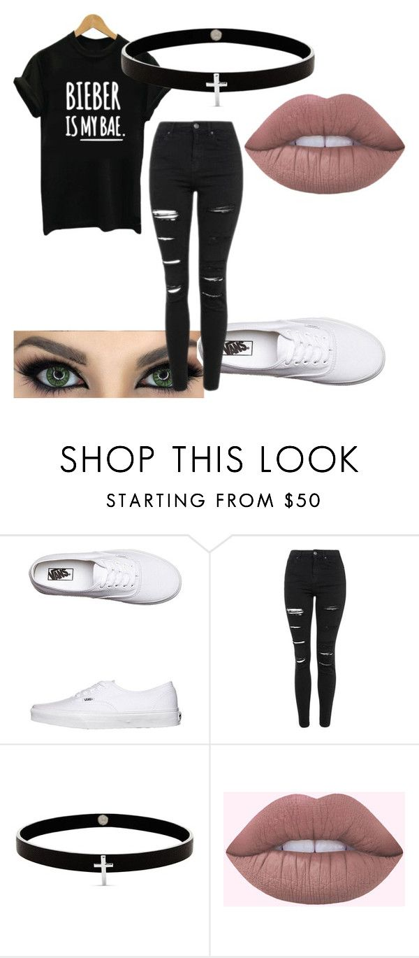 """""""Untitled #379"""" by vickyagh on Polyvore featuring Vans, Justin Bieber, Topshop and Lynn Ban"""