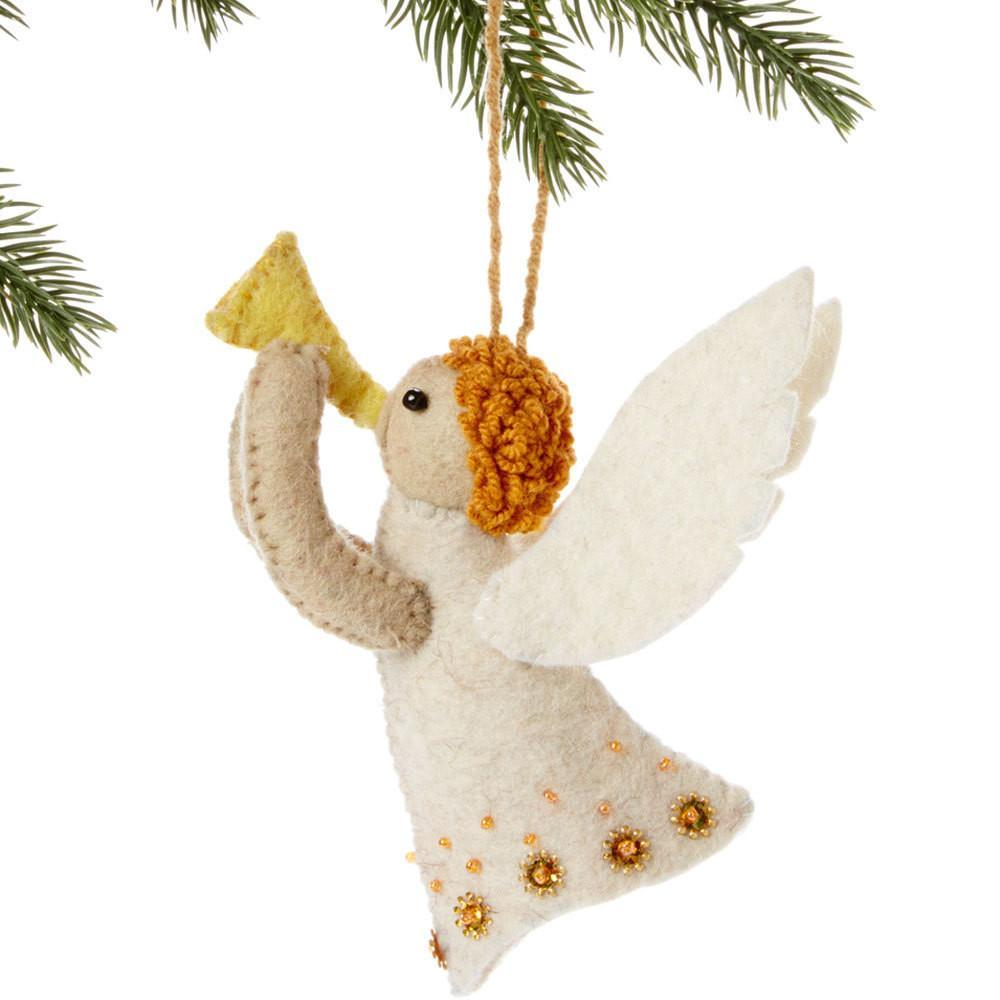 Angel Felt Holiday Ornament Silk Road Bazaar O Felt Christmas Ornaments