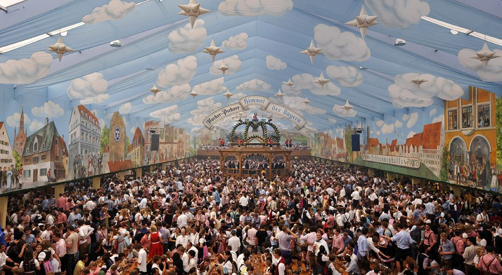 Hacker-Pschorr Tent. Oktoberfest. Munich Germany & Hacker-Pschorr Tent. Oktoberfest. Munich Germany | The places I ...