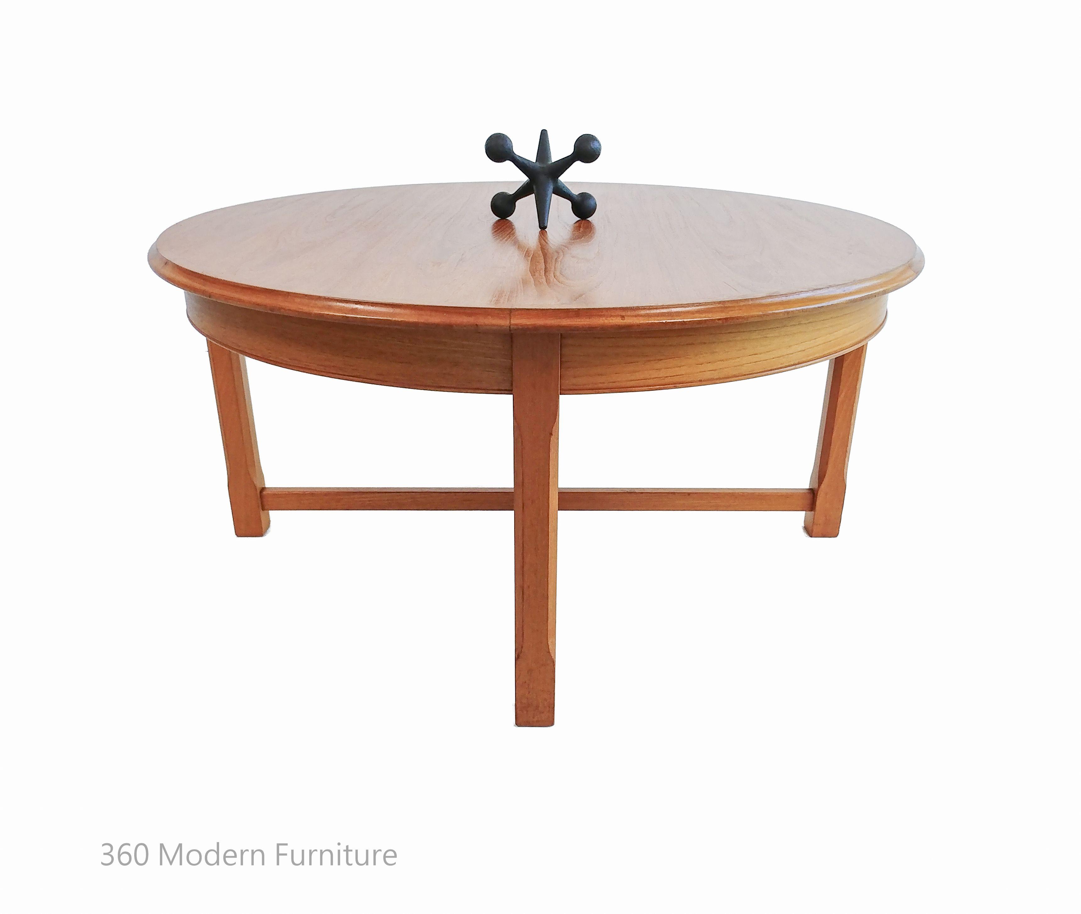 Parker Mid Century Modern Coffee Table Teak Round Retro Vintage 360 Modern Furniture Mid Century Modern Coffee Table Mid Century Coffee Table Coffee Table