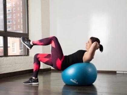10 yoga ball ab exercises  yoga ball abs exercise abs