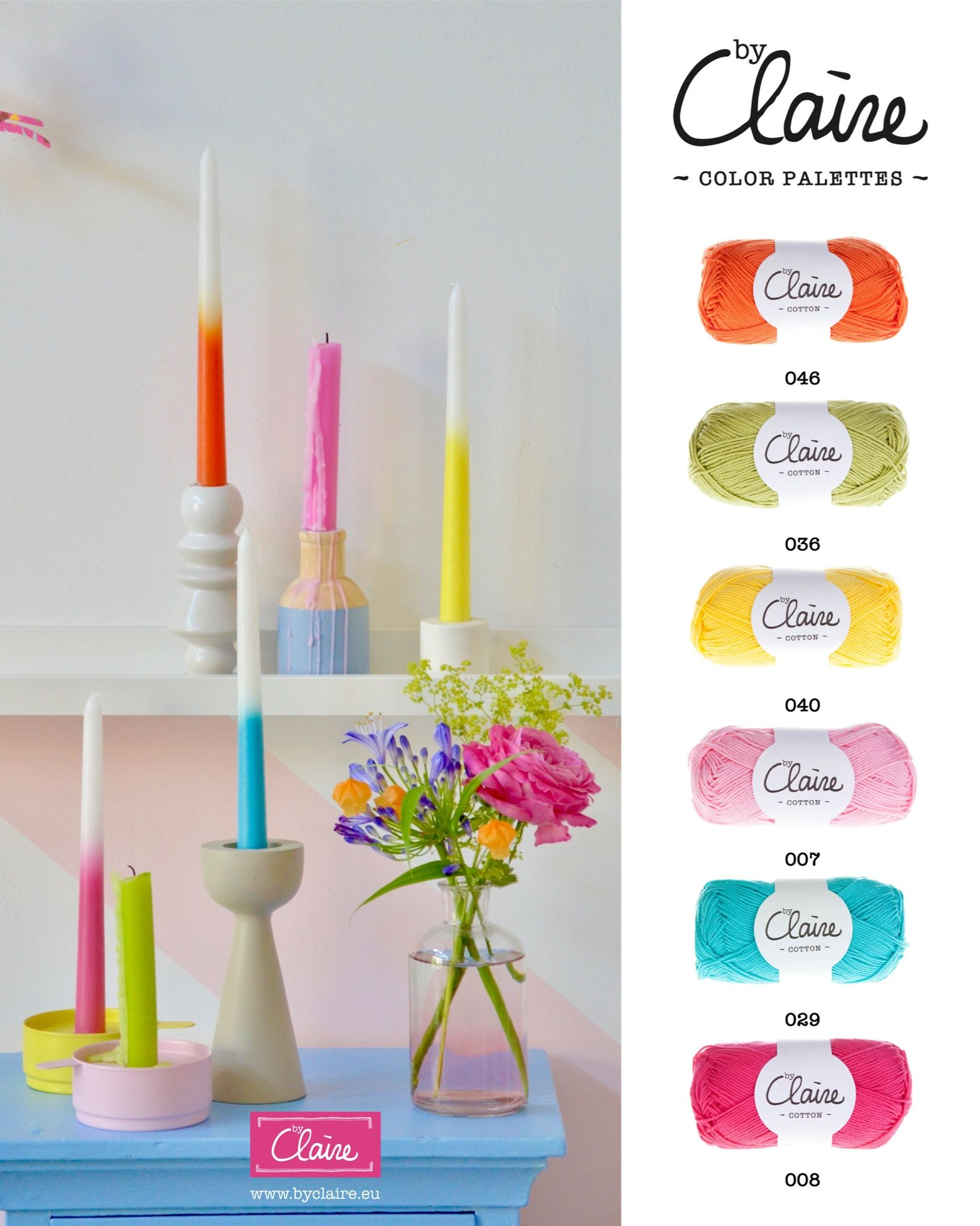 byClaire colorpalettes met byClaire garens - www.byclaire.eu