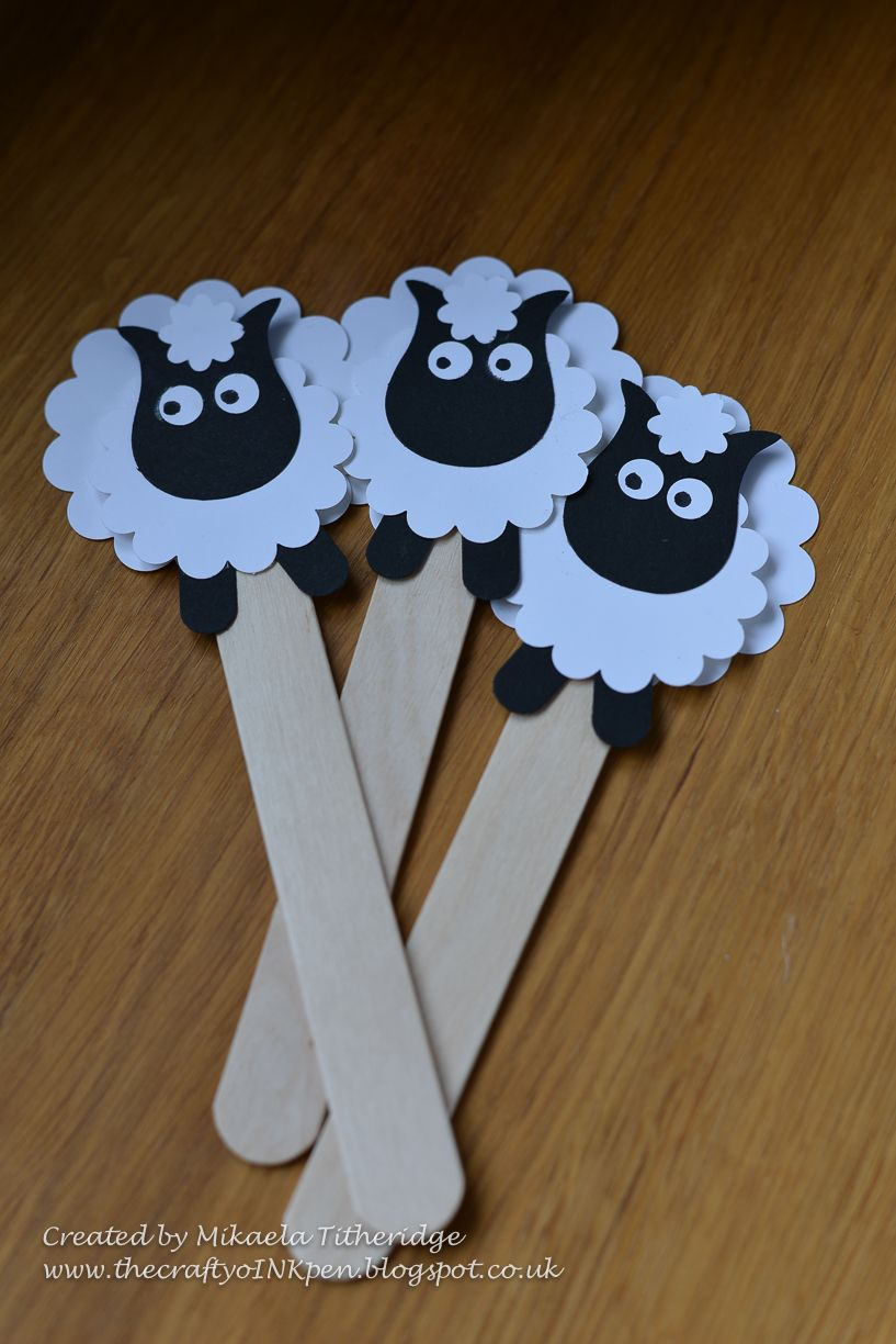 A Bookmark For Little Ewe Punch Art Sheep Eid Crafts Crafts For Kids Sheep Crafts [ 1224 x 817 Pixel ]