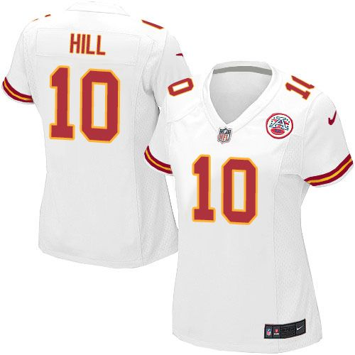 Women's Nike Kansas City Chiefs #10 Tyreek Hill Limited White NFL Jersey
