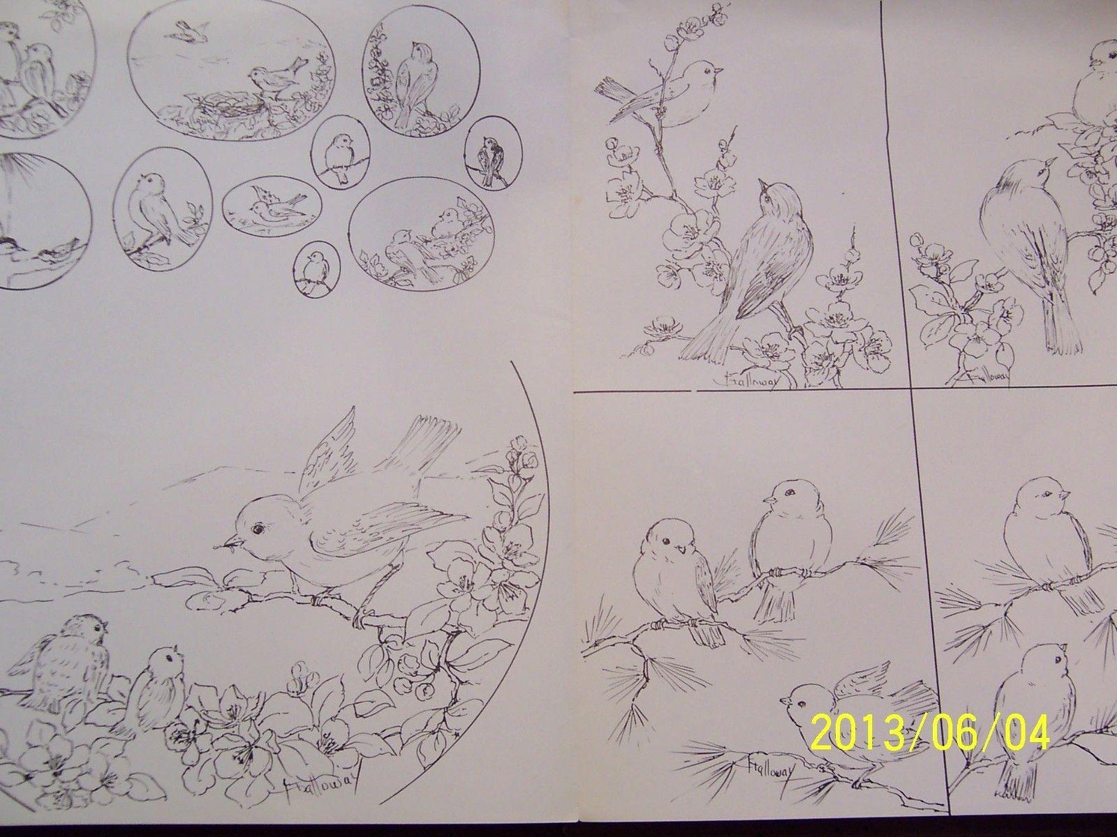 China Painting Study 23 Small Birds Gladys Galloway   eBay