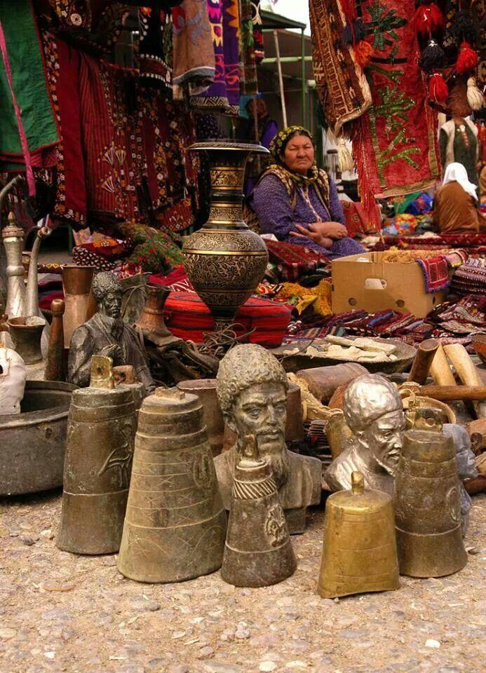 Türkmenistan'da çarşı, pazar..