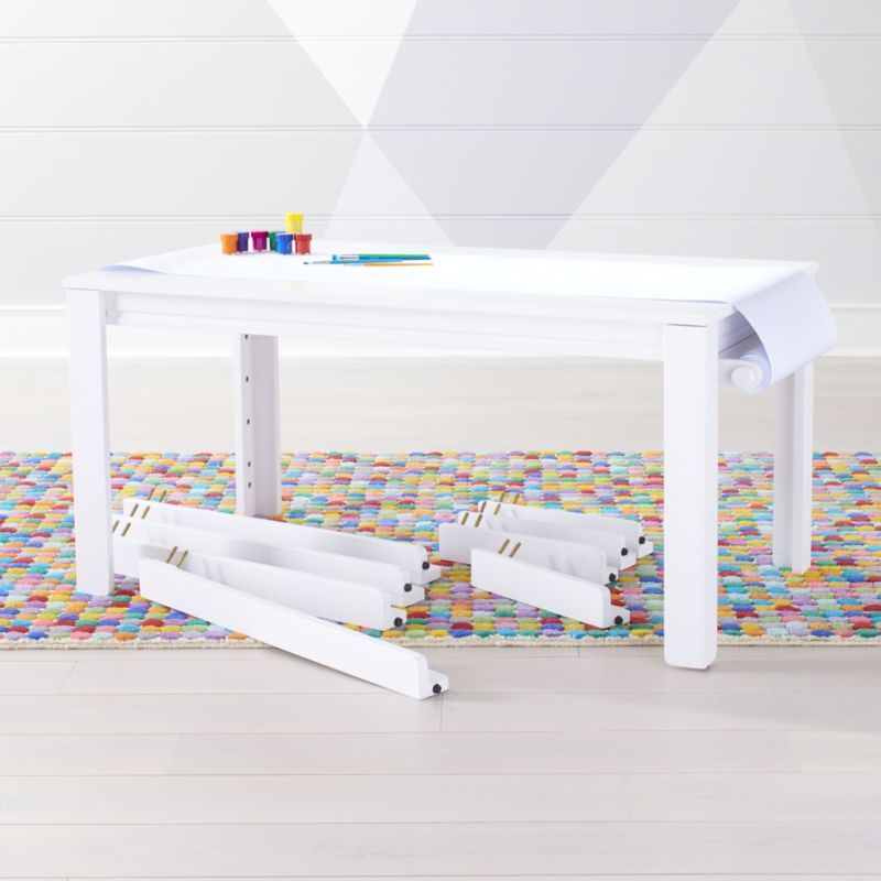 Shop Large White Adjustable Kids Table Leg Set And Paper Roll