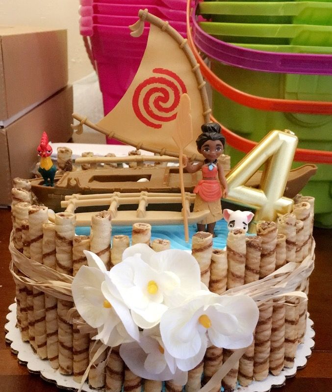 Moana Cake Bought A Walmart Toy The Sticks Easy Cheap