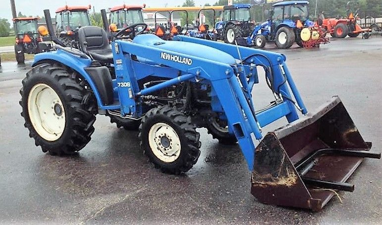 Genuine 1997 New Holland 1725 Tractor 7308 Loader Newholland