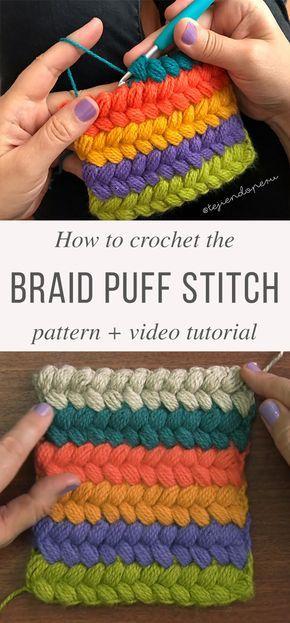 Braided Puff Stitch Crochet Pattern Tutorial   Puntadas