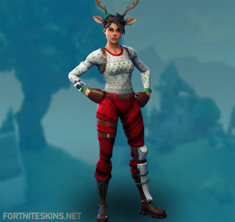 Red Nosed Raider Red Nose Fortnite Brown Eyed Girls
