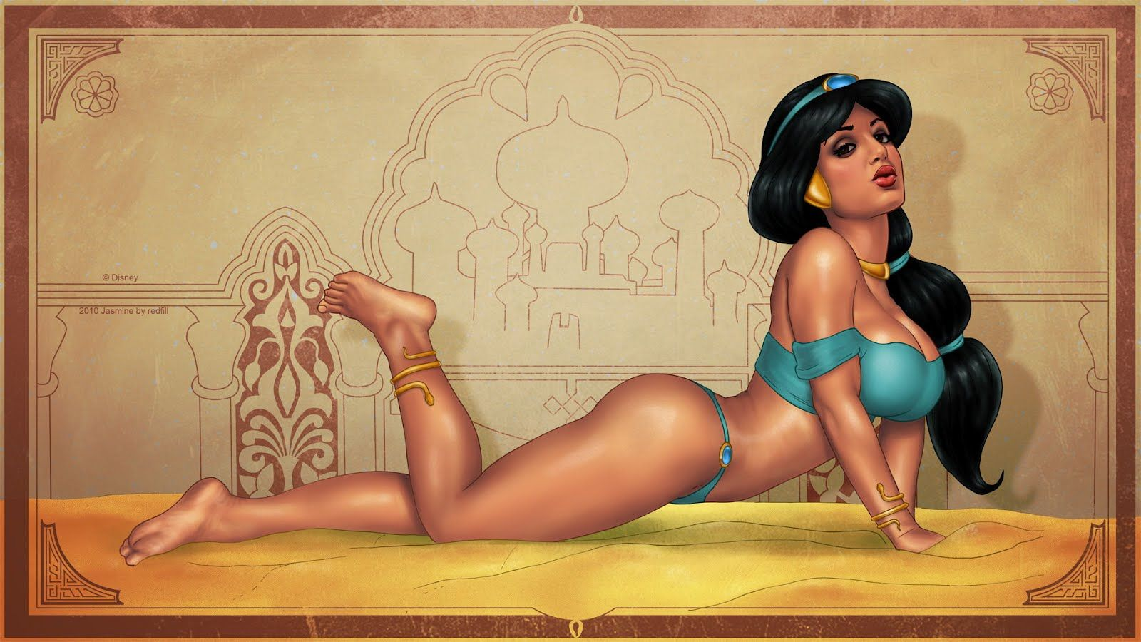 sexy princess jasmine pin up | sergey filikov