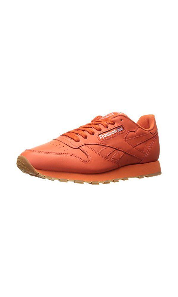 6f0b95d47f6671 74.99  - Reebok Men s Cl Lthr Cu Fashion Sneaker- Rusty Orange White ...