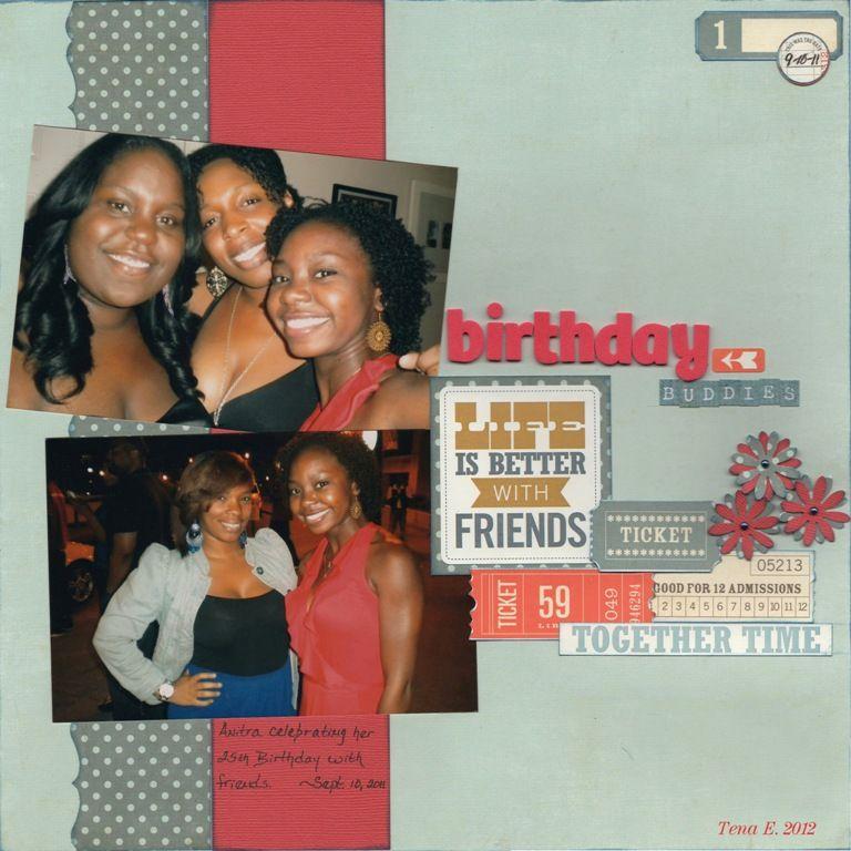 Birthday buddies - Scrapbook.com