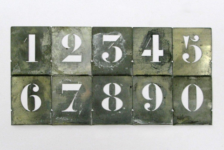 Stencils Set of Zinc Stencils Letters 2.in Wallet