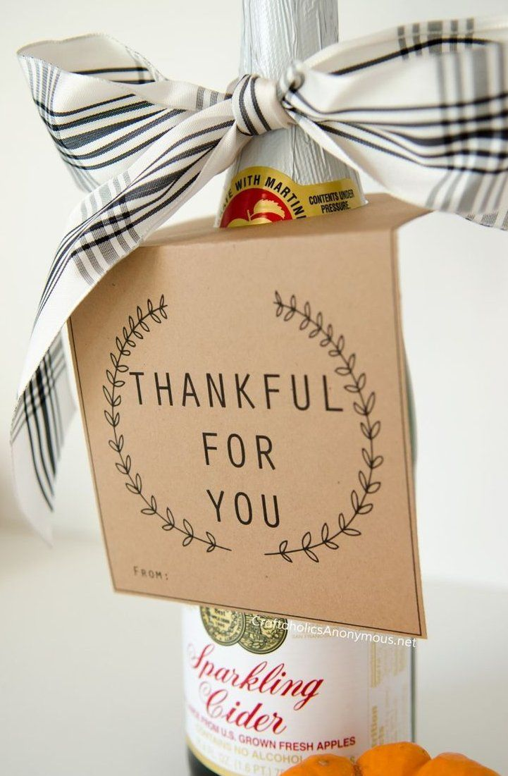 Hostess Gift Ideas Thankful For You Free Printable Bottle Neck , #thanksgivinggift hostess geschenkideen dankbar für sie kostenlos druckbare flaschenhals  Hostess Gift Ideas Thankful For You Free Printable Bottle Neck , #thanksgivinggiftsforteachers