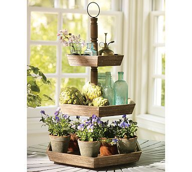 Tiered Tray Servers Party Accessories Wood Tiered Stand Tiered Stand Tiered Tray