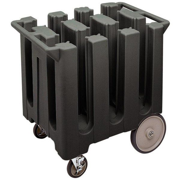Cambro DC575110 Poker Chip Black Dish Dolly / Caddy with Vin…