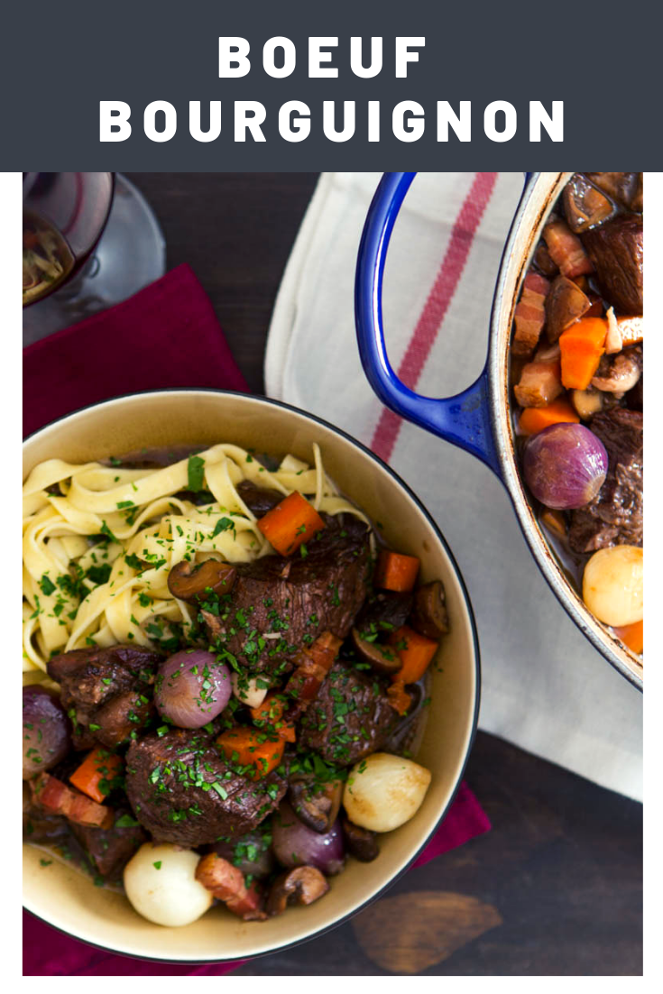 Boeuf Bourguignon Beef Stew With Red Wine Mushrooms And Bacon Recipe Recipe Beef Bourguignon Beef Recipes Beef