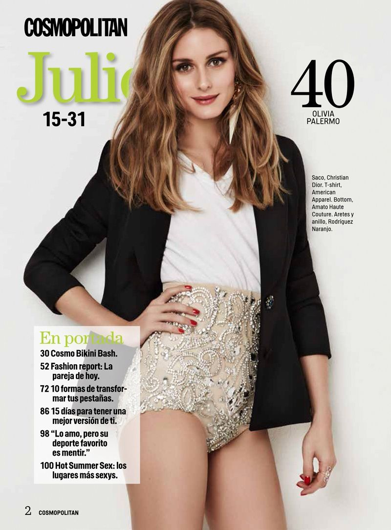 Olivia Palermo Poses For Cosmopolitan Mexico In Casual Glam Style - Cosmo mexico