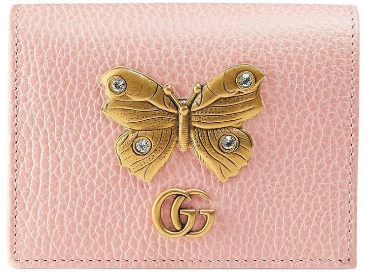 5a05bf2a528 Leather card case with butterfly  gucci  ShopStyle  MyShopStyle click link  for more information