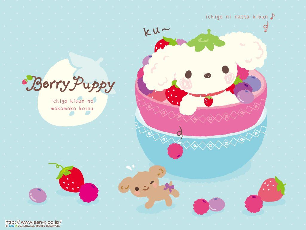 Wallpaper iphone san x - Berry Puppy