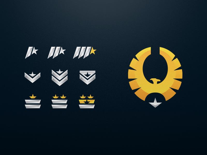 Elite Rank Emblems Game Icon Design Logo Sketches Retro Logos