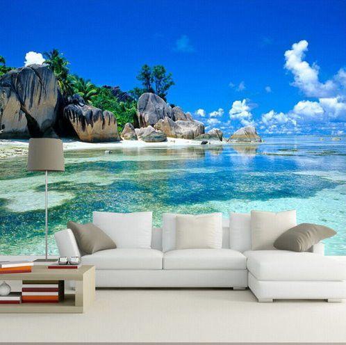 3d Tropical Beach Island Wallpaper For Walls Beaches In