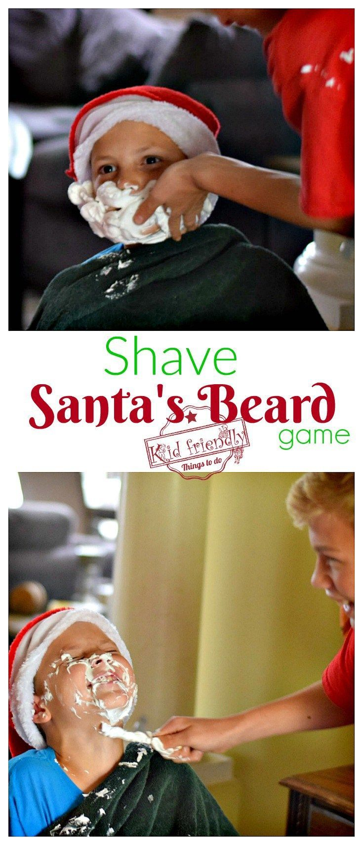 Shave Santa's Beard Christmas Game for Kids, Teens, and