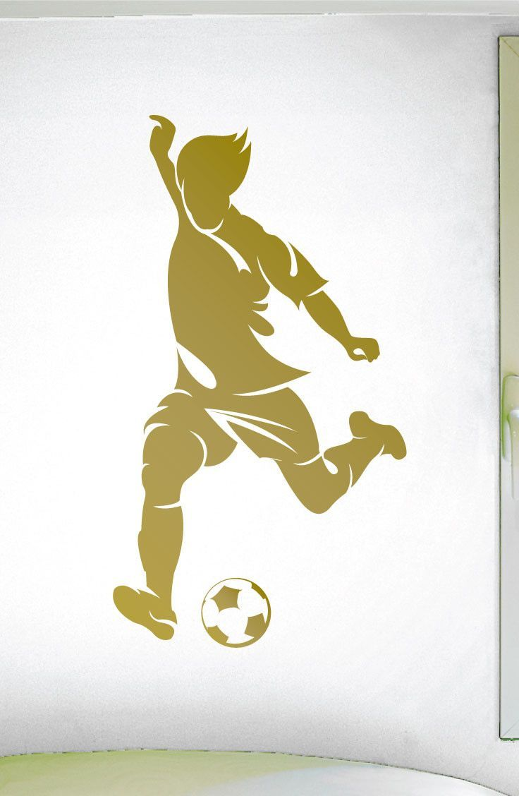 Soccer Player Wall Sticker - 0294 - Soccer Theme Decal - Sports ...