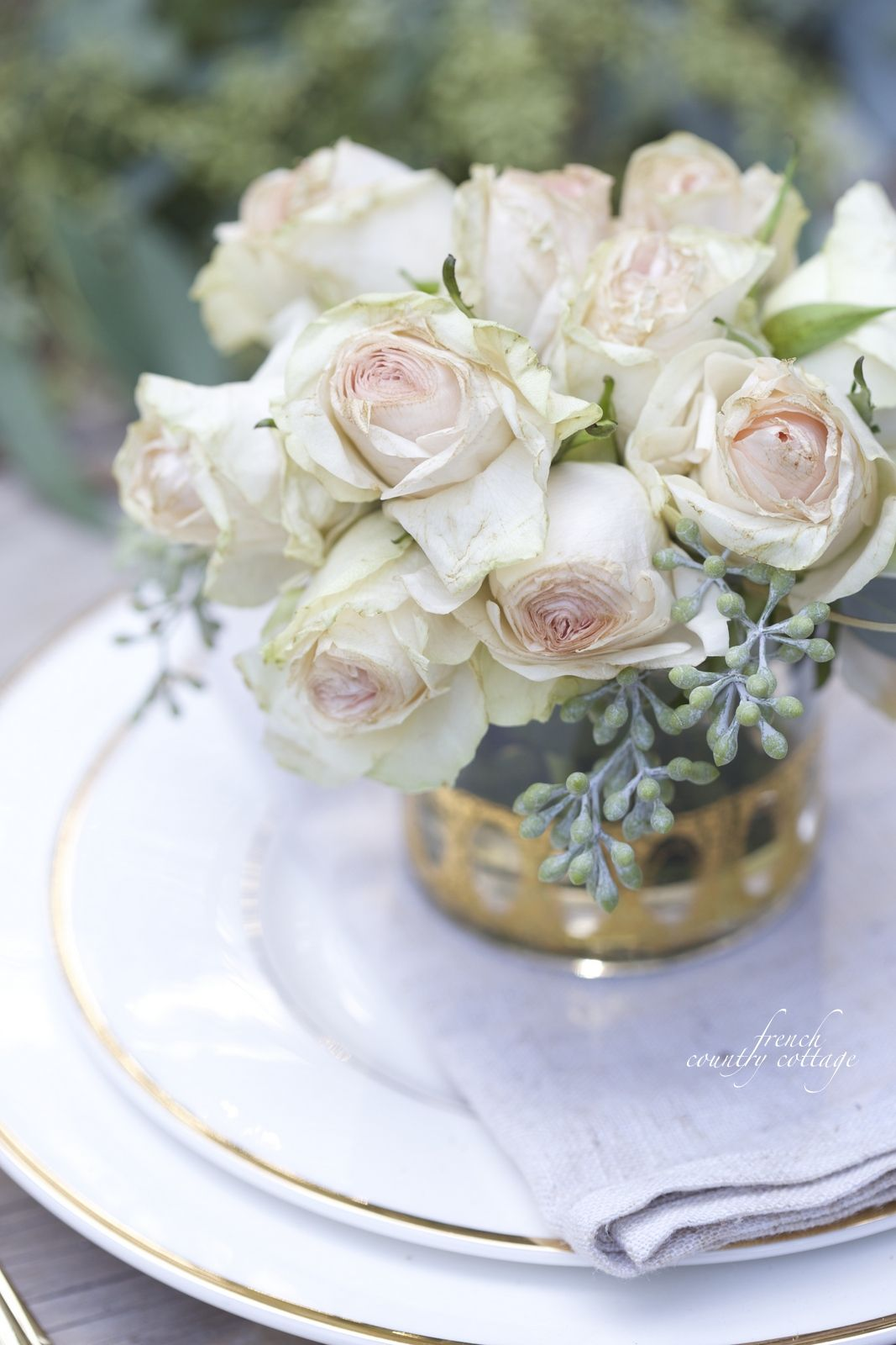 FRENCH COUNTRY COTTAGE: Treasures~ Vintage Gold Gles | Flowers ... on french country rose art, french country trees, french country cottage gardens, french country flower, french country vegetable gardens,