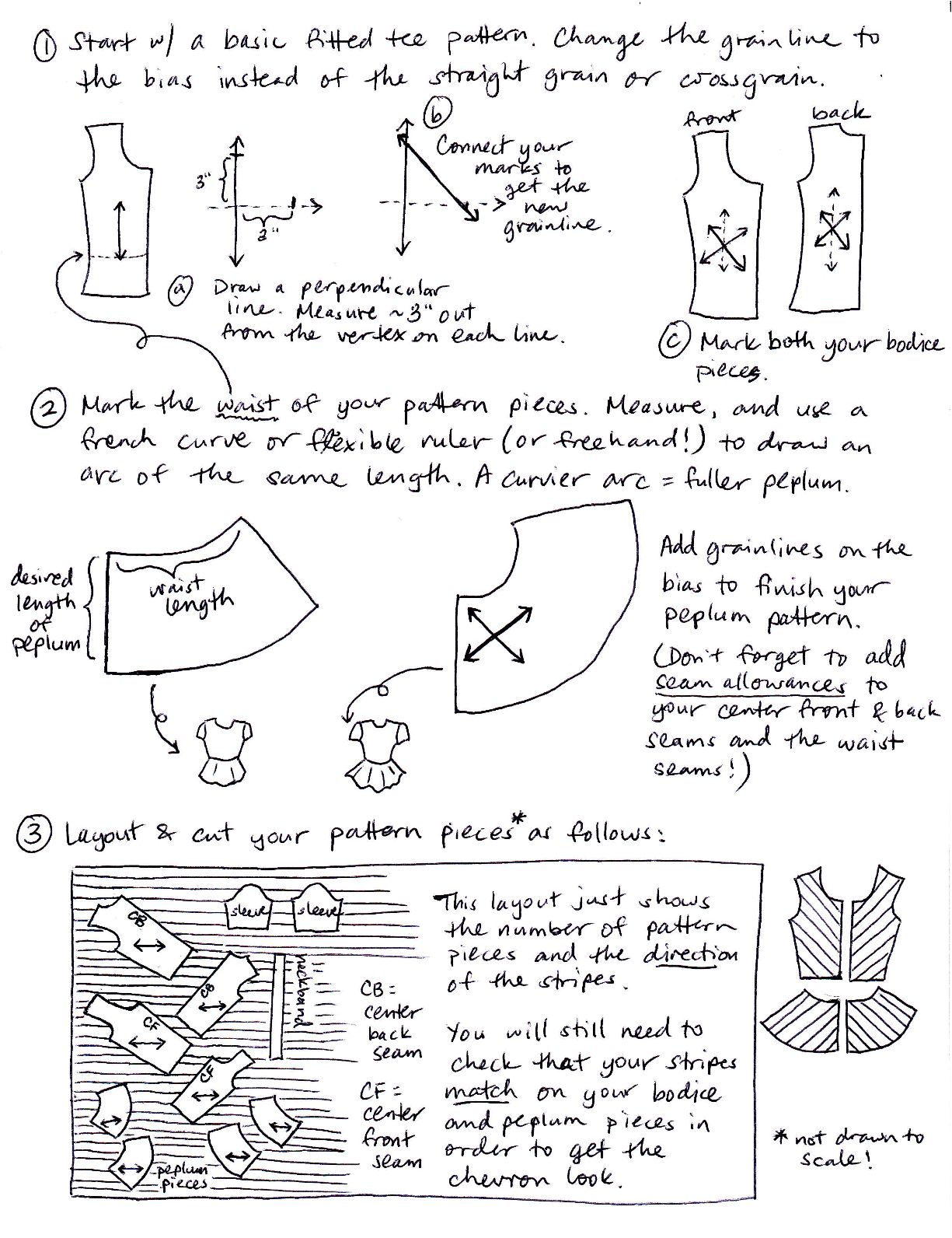 How to do patterns for peplum top | Sewing projects | Pinterest ...