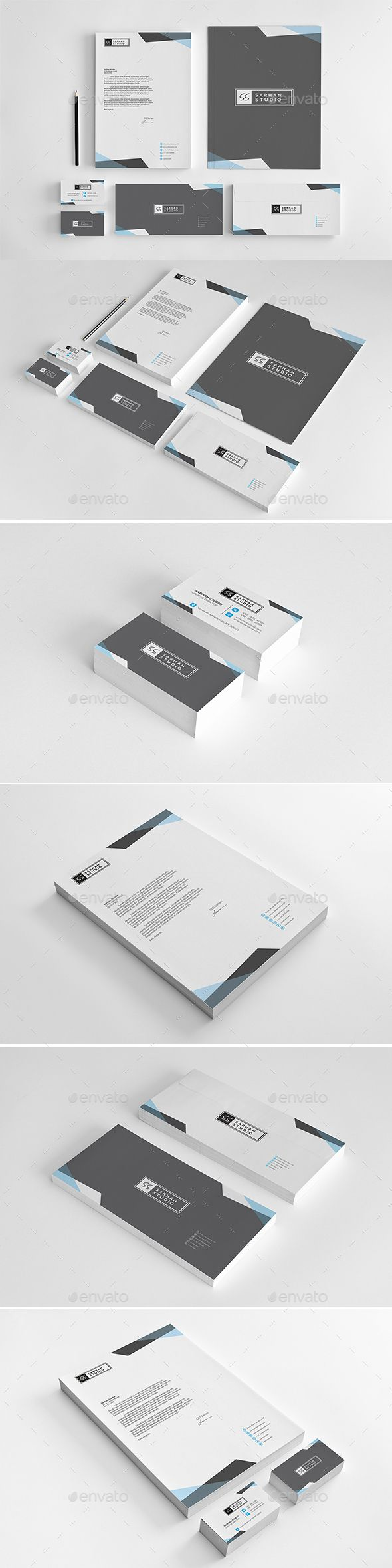 Corporate Identity Template Vector Eps Ai Illustrator Stationery