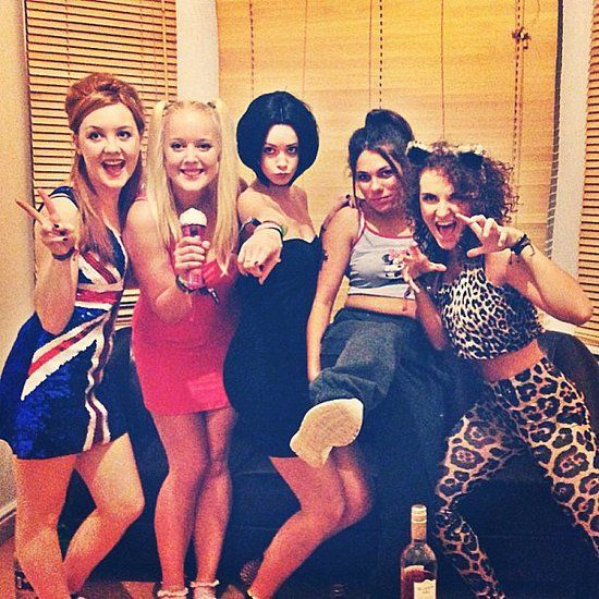 Spice Girls Group Halloween Costume @Angelica Brochero @Adrien Fairweather umm can we do this?  sc 1 st  Pinterest & Spice Girls | Pinterest | Girl group halloween costumes Group ...