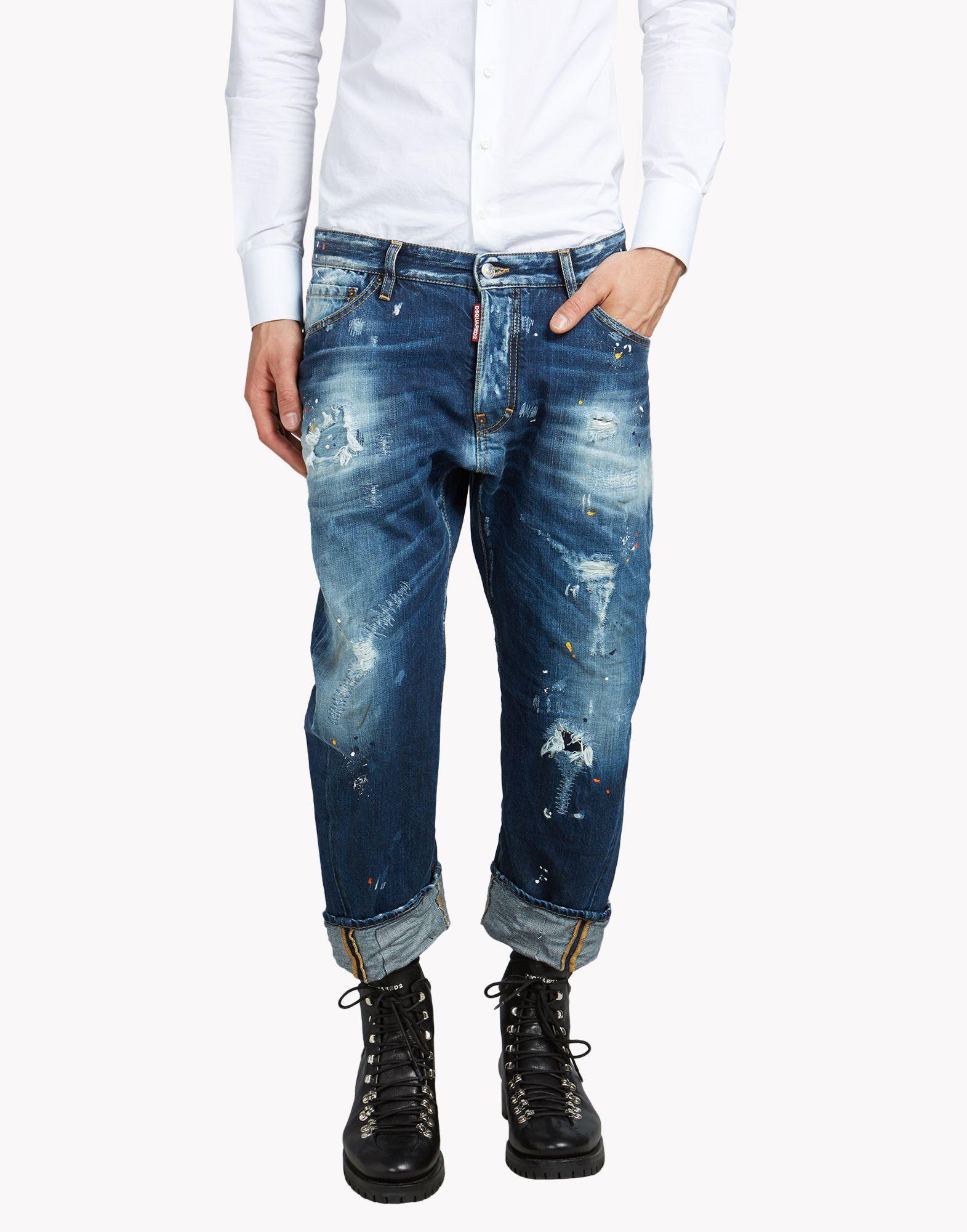 c07e75bc4df5 Workwear Jeans - 5 Pockets Men - Dsquared Official Online Store ...