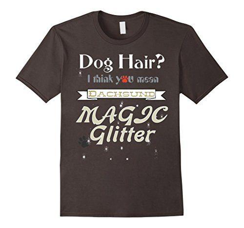 Men's Dog Hair Magic Glitter Dachsund Puppie Gift Birthda...