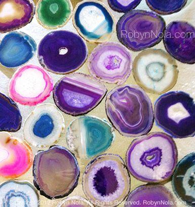 Colorful Agate Coasters