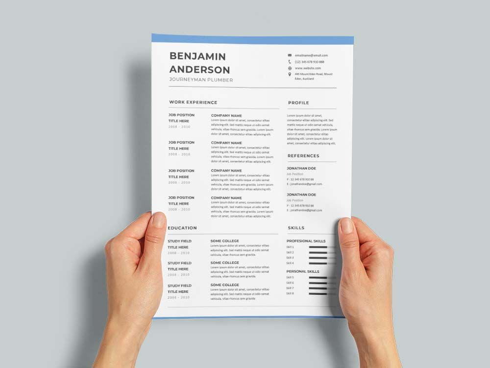 Free journeyman plumber cvresume template resume