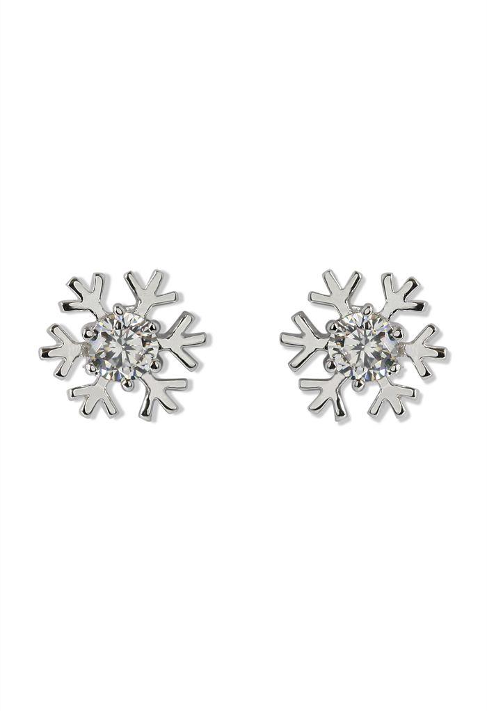 Snowflake Crystal Earrings -
