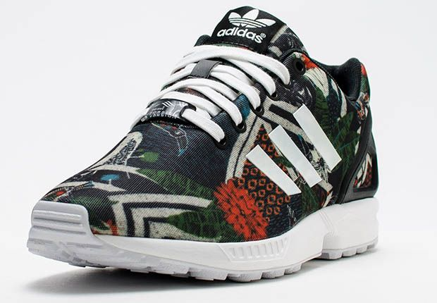 Printed Floral Is The Go To For The adidas ZX Flux
