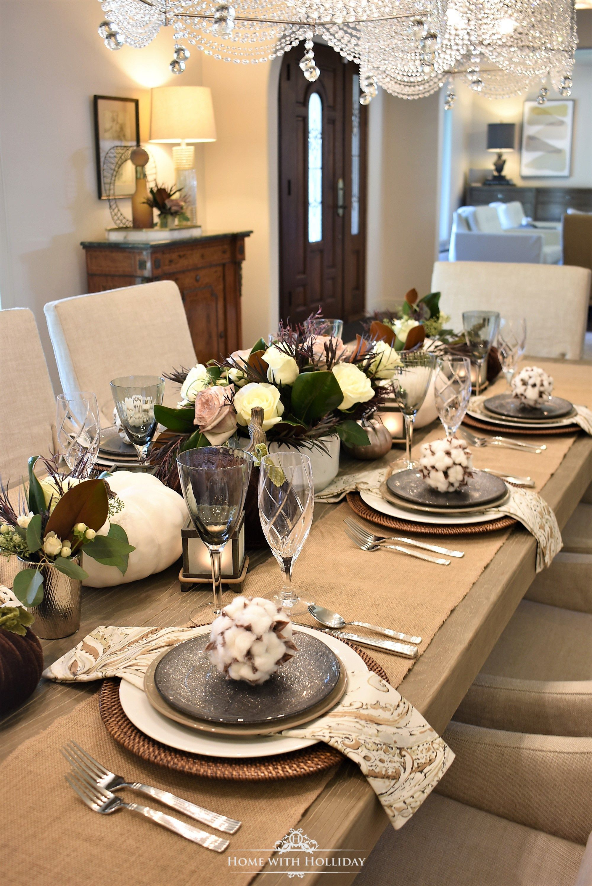 Fall Table Setting With Brown And White Pumpkins Home With Holliday Fall Table Settings Unique Dining Room Table Fall Table