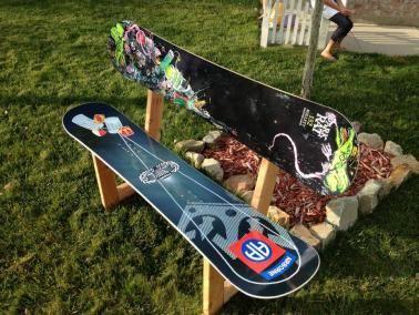 Diy Snowboard Bench Follett Boarding Co Sitzbank Sitzen Bank
