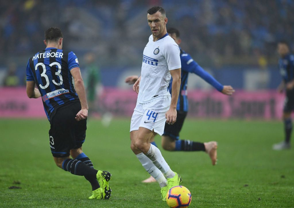 BERGAMO, ITALY - NOVEMBER 11:  Ivan Perisic of FC Internazionale in action during the Serie A match between Atalanta BC and FC Internazionale at Stadio Atleti Azzurri d'Italia on November 11, 2018 in Bergamo, Italy.  (Photo by Claudio Villa - Inter/Inter via Getty Images)
