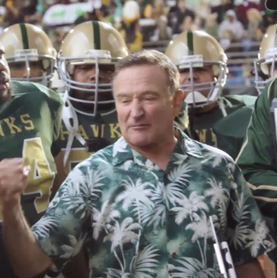 05b7efc3ca088c Robin Williams in a Hawaiian shirt for a recent Candy Bar commercial ...