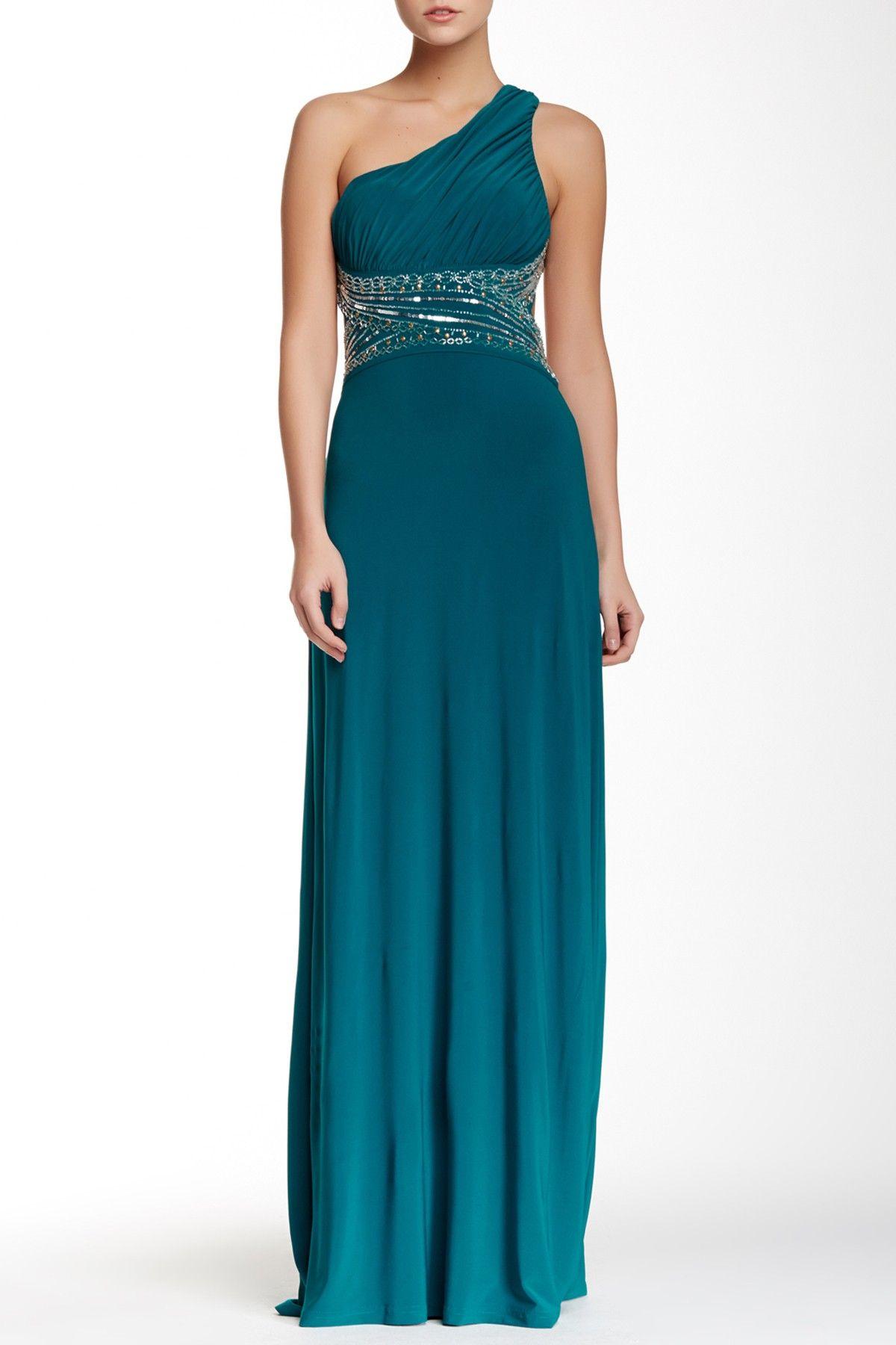 One Shoulder Embellished Dress (Juniors) | Embellished dress ...