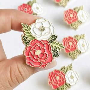 9c4233c0fdf Floral Cluster Pin in 2019   Paper Anchor Co.   Pin, patches ...