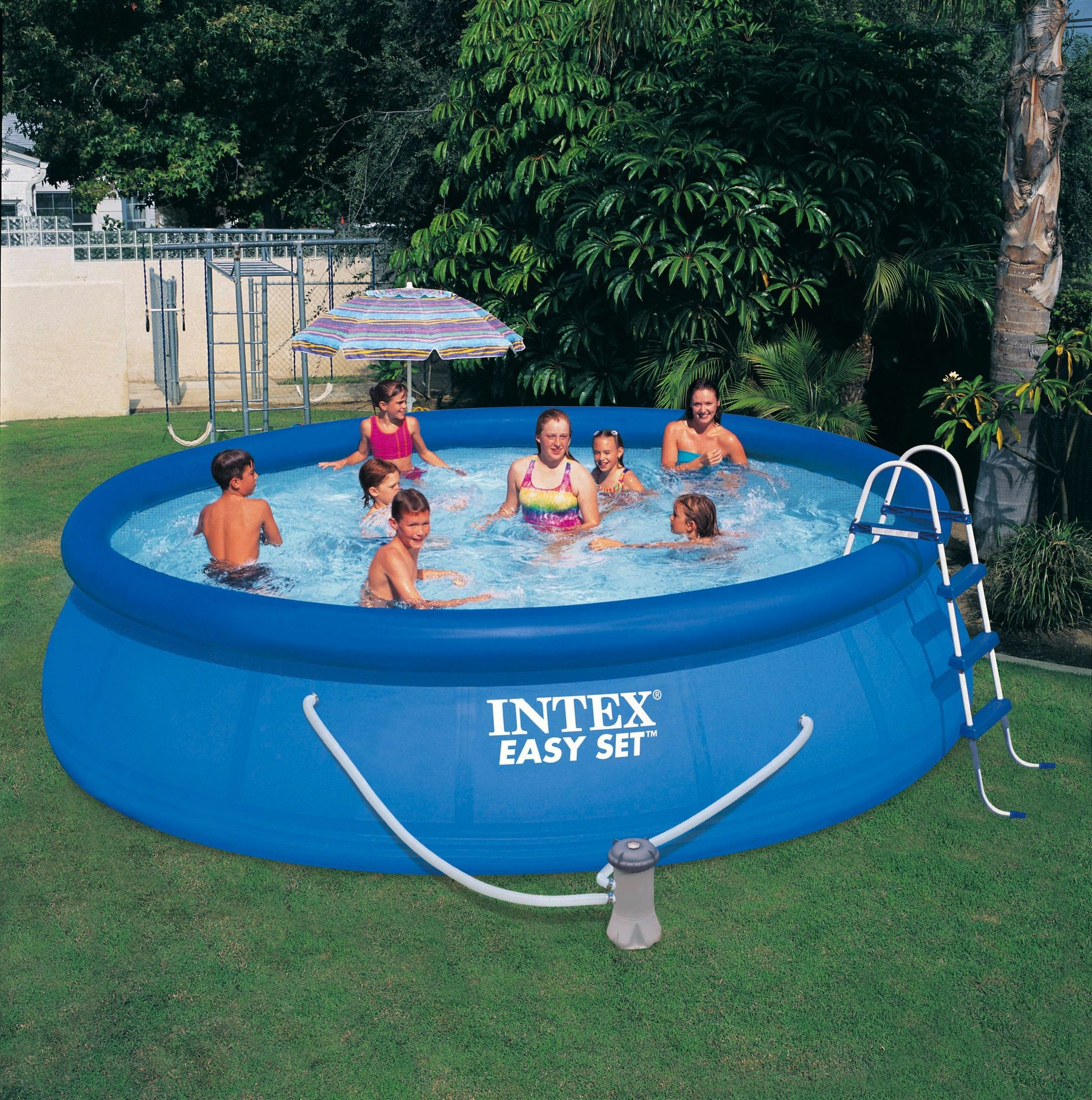 Intex 16 X 42 Easy Set Pool W Filter Pump Ladder Easy Set