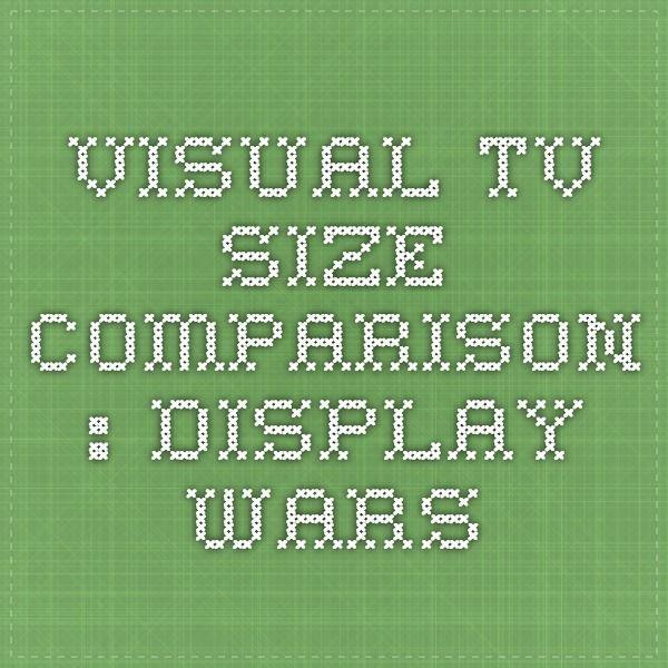 Visual Tv Size Comparison Display Wars Tv Size Comparison Tv Size Visual