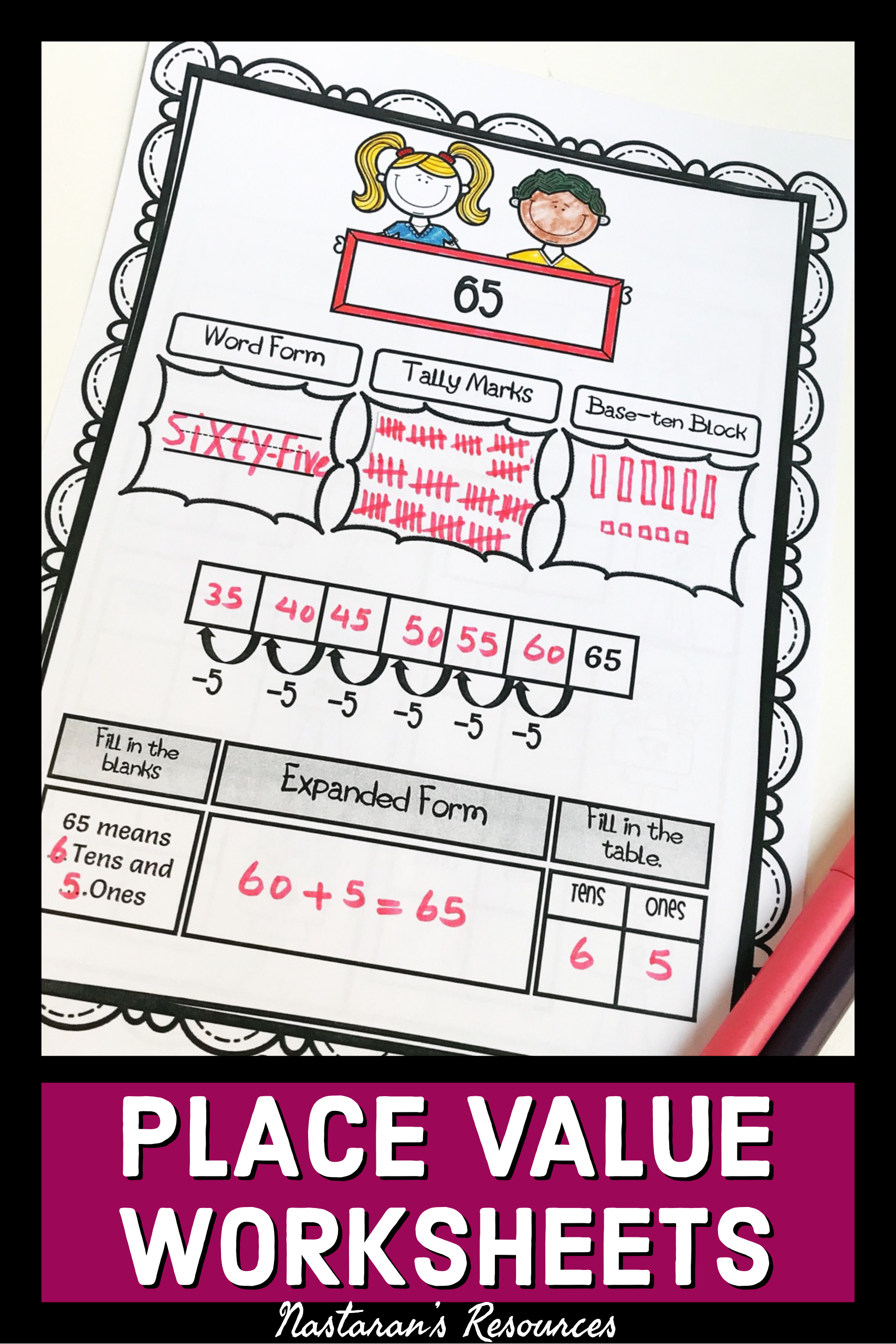 1st Grade Place Value Tens And Ones Worksheets Place Value Worksheets Printable Math Worksheets Place Values [ 2560 x 1707 Pixel ]